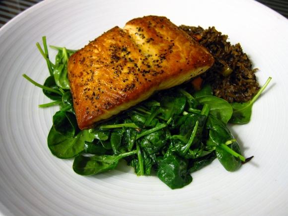 hyatt_salmon_dinner