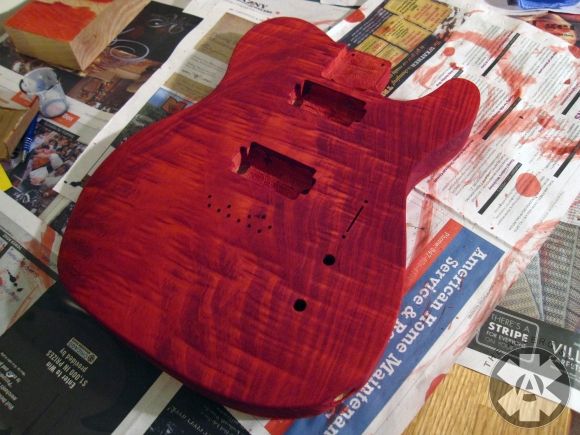 red_stained_cedar_guitar