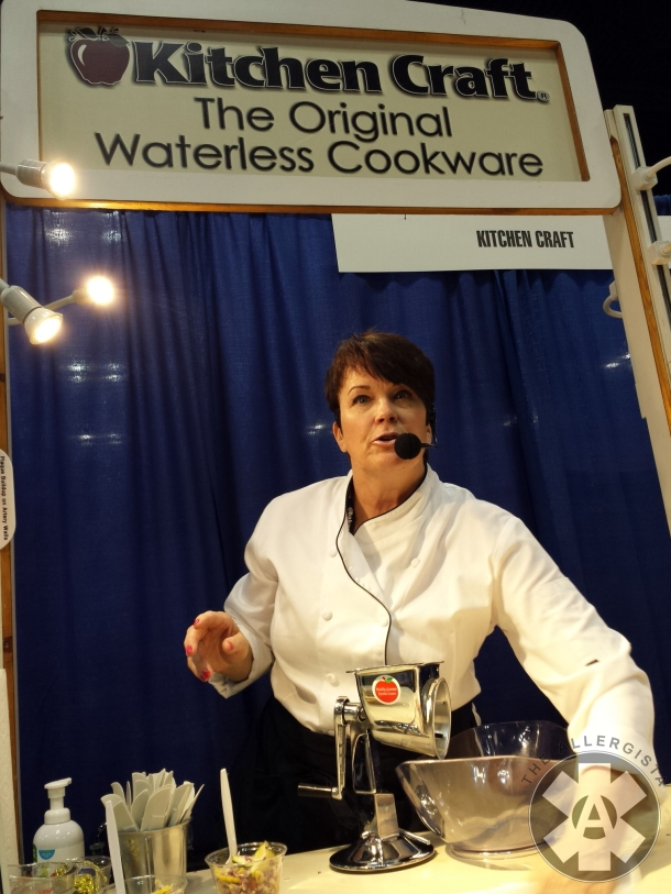 And snagged front row at a cooking show by Kitchen Craft! Seriously great cookware.